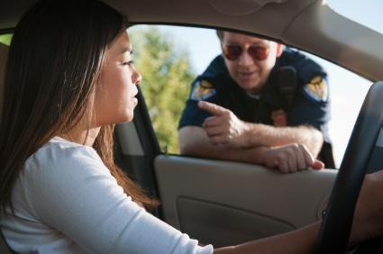 אי ציות לשוטר של נהגת